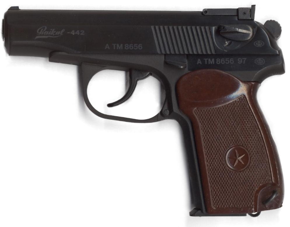 Pistole Makarov PM 9 mm - Baikal-442 1997 (Sportversion mit verstellbarem Visier, 8 schüssig)