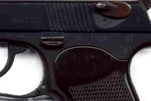 Pistole Makarov 9 mm - Detail Waffenfabriken Suhl, Deutschland